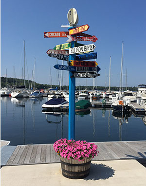 Egg Harbor Directions Sign