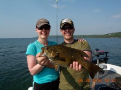 couple with bass
